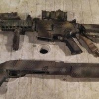 Here I show you how I created the snakeskin camouflage pattern on my M4 Airsoft Gun. Painting Your Airsoft Gun A Painted airsoft gun is one of those things that you either love or hate. It has it's benefits in that because airsoft is played at close quarters, it does assist... - See more at: http://www.templarairsoft.com/the-armoury/#sthash.NEXVBGnP.dpuf