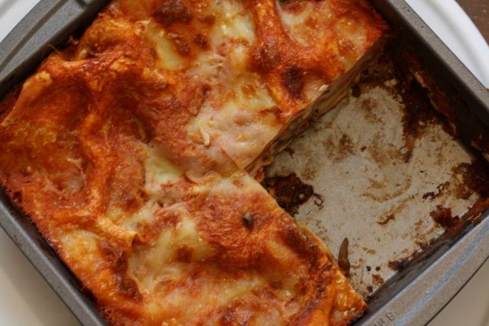 Microwave lasagna that actually sounds quite delicious college food