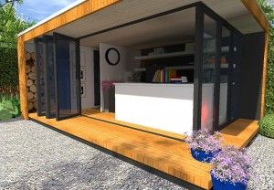 mobiel kantoor / tuinkamer ontwerp van verplaatsbare kantoorruimte