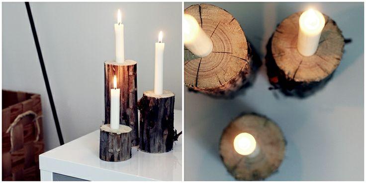 Valkoinen Soihtu: Tee-se-itse kynttilänjalka / DIY candle holder