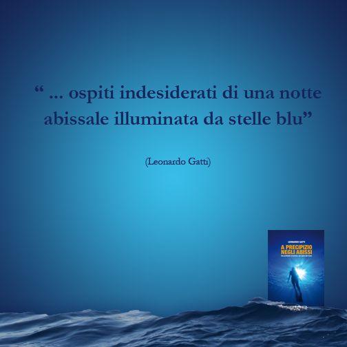 """""""... ospiti indesiderati di una notte abissale illuminata da stelle blu"""" #Libro #Romanzo #APrecipizioNegliAbissi #Mare #Oceano #Citazione"""