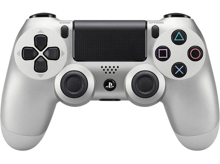 génial PLAYSTATION PS4 Manette Sans fil Dualshock 4 Argenté (9822943) chez Media Markt