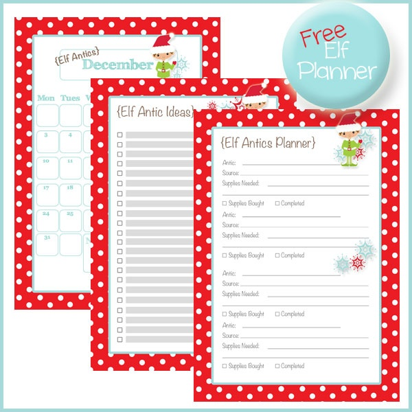 Elf on a Shelf - Prop: Free Planner