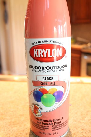 Krylon Coral Isle, for the 3 drawer campaign dresser in Viviennes room