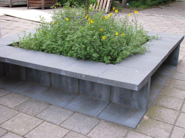 Betonnen Zitelementen Tuin : Betonnen zitelementen tuin betonnen zitelement monique en anders