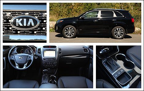 """2014 Kia Sorento SX Review   Auto123.com - Only released in the 21st Century, the Kia Sorento is """"new to the SUV game,"""" so to speak. First appearing in 2002, the first Sorento sported a traditional truck setup (body-on-frame). It was truly an SUV. #kia #sorento #suv #cuv #crossover #review #awd"""