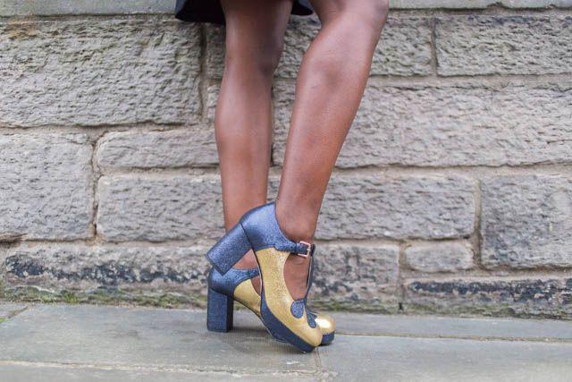 Orla Kiely Clarks Abigail Gold heel
