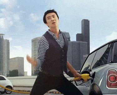 And that is how you pump gas  lol  Kwang-soo HAHAHAHAHAHAHAHAHAHAHAA