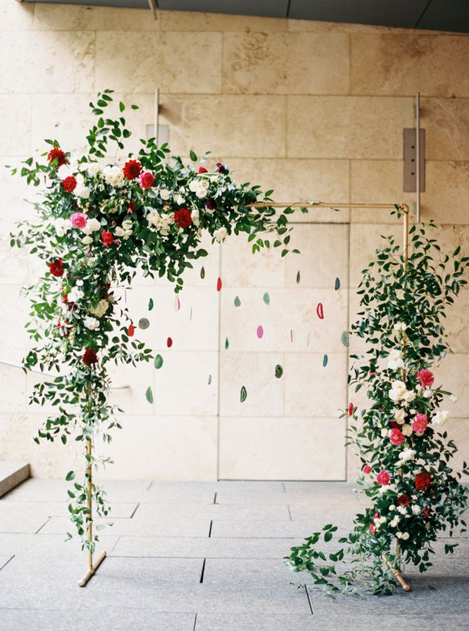 Custom built suspended agate escort cards: http://www.stylemepretty.com/2016/09/22/this-wedding-incorporated-smps-favorite-trends-of-the-year/ Photography: Apryl Ann - http://www.aprylann.com/