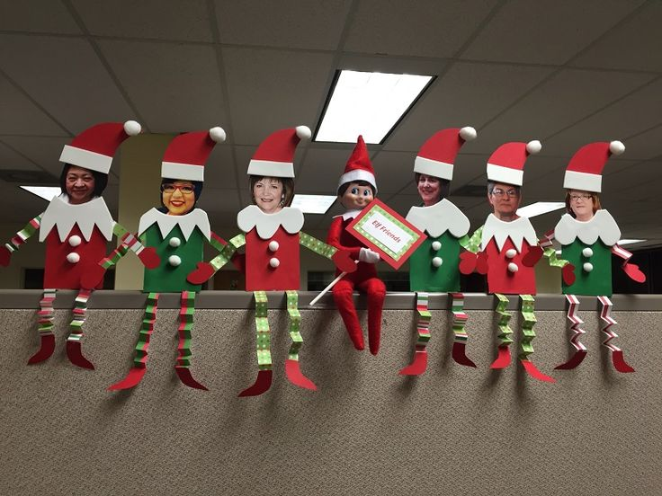 Decoraciones navideñas de oficina de bricolaje
