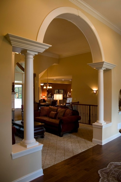 Arched Openings Tapered Columns Design Pictures Remodel Decor And Ideas