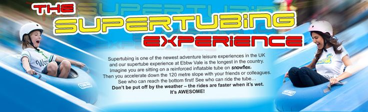 Super tubing in Ebbw Vale, Wales