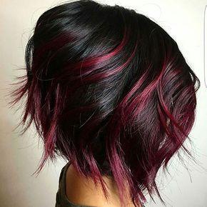 Short Dark Red Hair