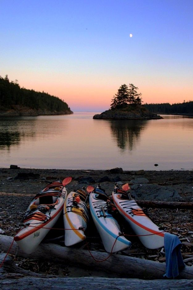Wilderness camping and sea kayaking in the Discovery Islands British Columbia. A place to forget all your worries.