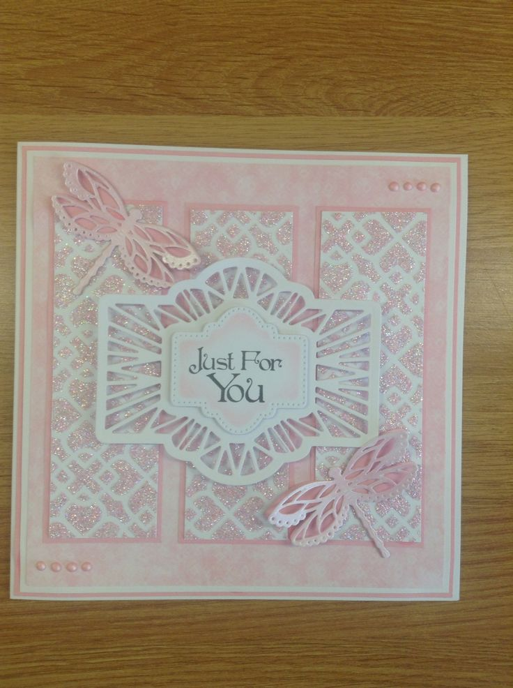 Pretty card made using Phill Martin's graceful pink collection