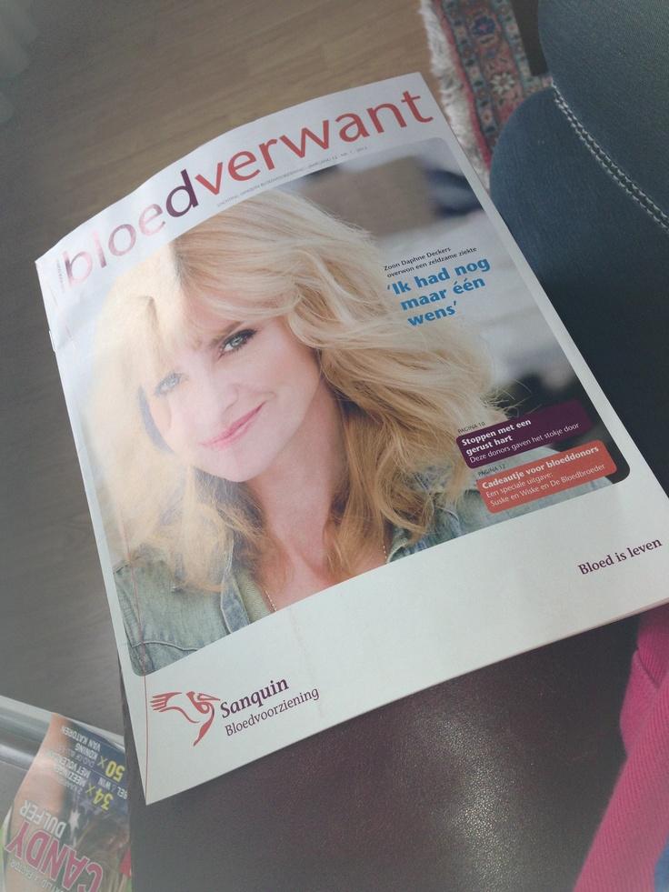 Het tijdschrift bloedverwant( krijg je thuis  gestuurd als je aangemeld bent bij de bloedbank)