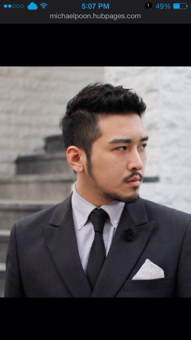 Asian Man Short Hair