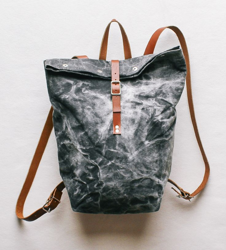Black Marble Painted Backpack by Julia Canright