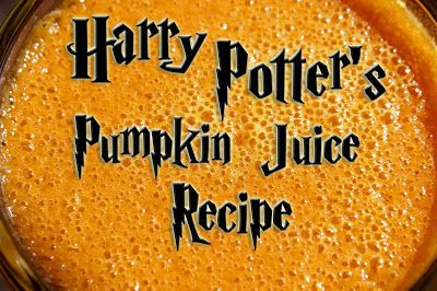 The Disney Diner: Pumpkin Juice Recipe from The Wizarding World of Harry Potter