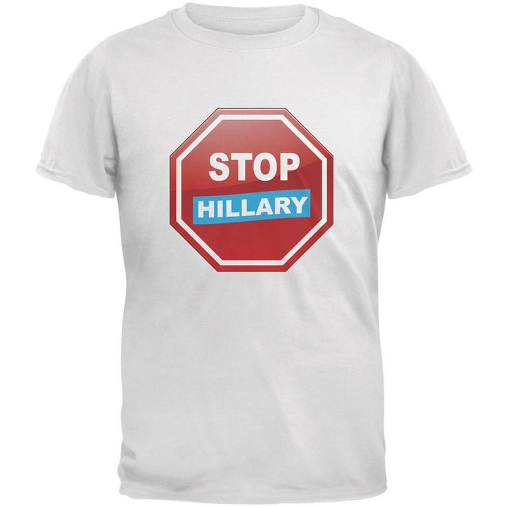 Election 2016 Stop Hillary White Adult T-Shirt
