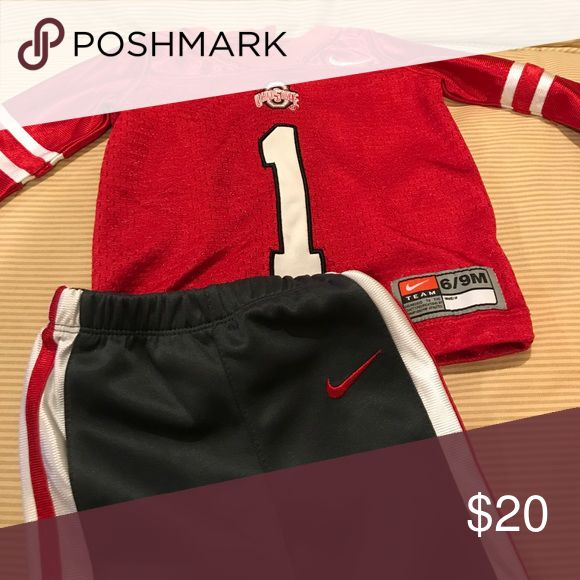 EUC OHIO State jersey and athletic pants by Nike EUC, worn a couple times Nike Matching Sets