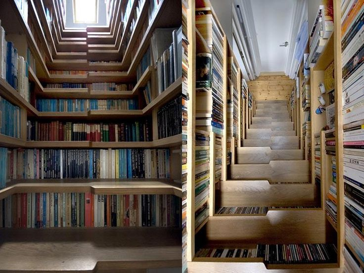 The 25+ Best Staircase Bookshelf Ideas On Pinterest | What Is Scala, Stairs  And Half Walls