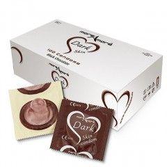 Prezerwatywy MoreAmore Dark Skin - brązowe o zapachu czekolady - 100 szt.