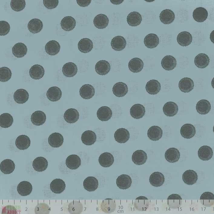 Cotton Lawn - Polka Dot Dusty Blue Dressmaking Cotton from Plush Addict