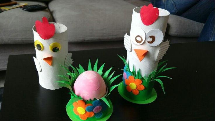 Easter craft chicken egg