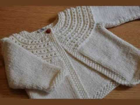 Easy Knit Baby Cardigan - YouTube