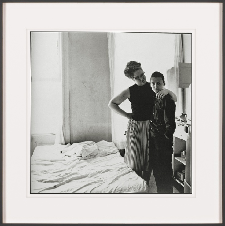 Two Friends at Home by Diane Arbus  http://artsation.com/en/diane-arbus-two-friends-at-home