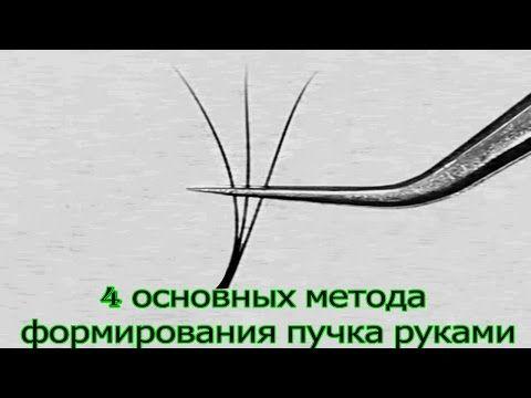 4 МЕТОДА ФОРМИРОВАНИЯ ПУЧКА РУКАМИ для ОБЪЕМНОГО НАРАЩИВАНИЯ РЕСНИЦ - YouTube
