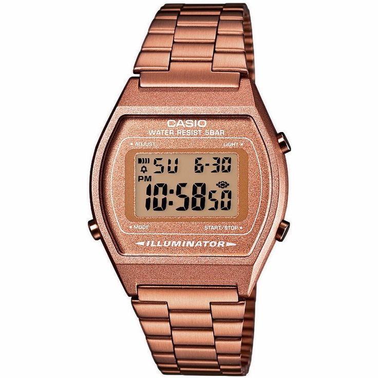 reloj casio b640 bronce rosa dorado retro vintage clasico