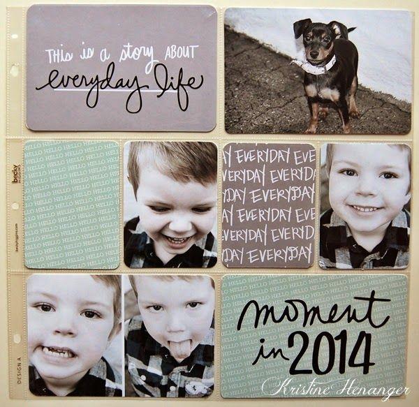 Kristine's lille papirverden: Fremside Project Life 2014