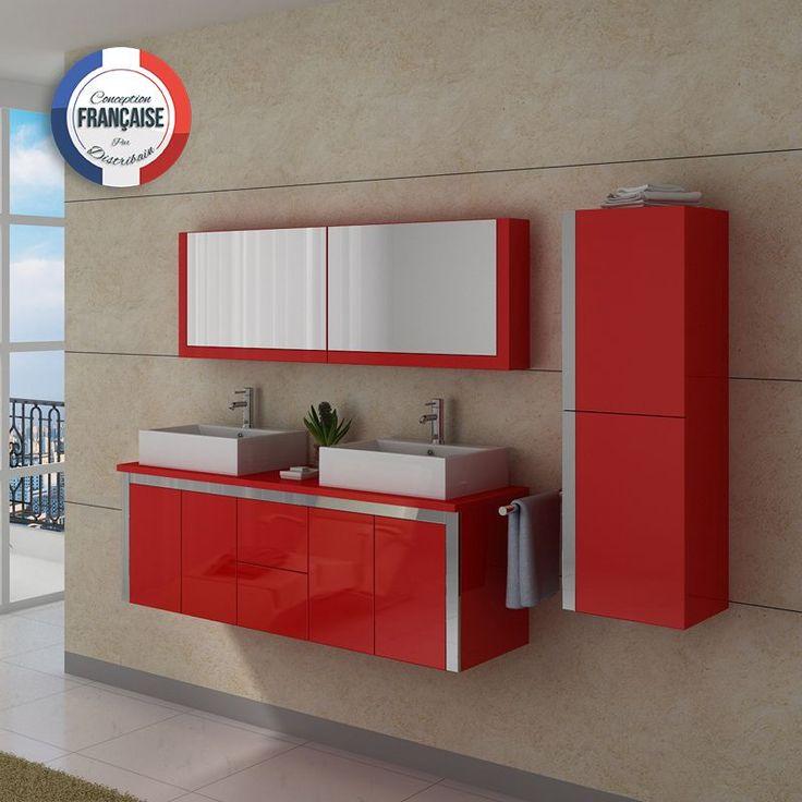 1000 id es sur le th me salles de bains rouge sur for Meuble salle de bain rouge
