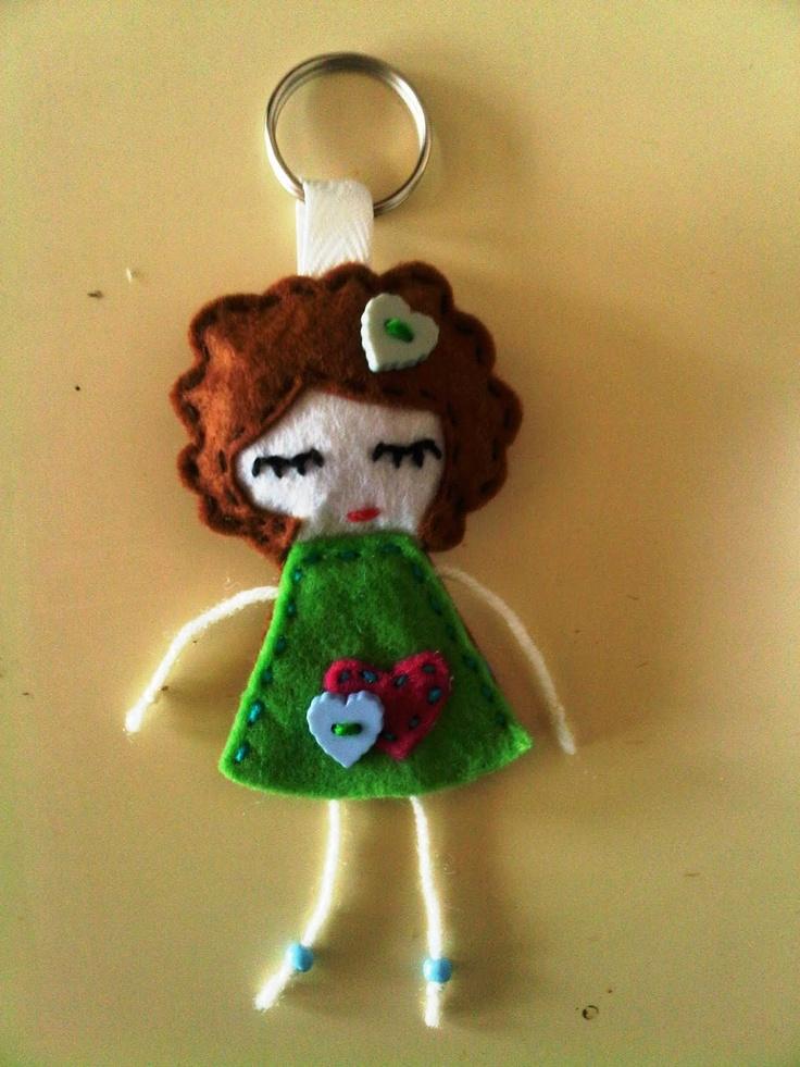 Felt Craft: Doll Keychain