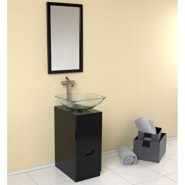 Fresca Brilliante 17-in. Modern Single Bathroom Vanity & Mirror FVN6117ES - FSCA085