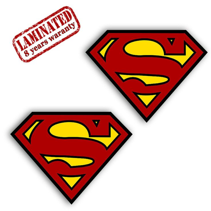 2 VINYL SUPERMAN STICKERS LOGO CREST AUTO MOTO BIKE CAR VAN TRUCK TUNING B 382   eBay Motors, Parts & Accessories, Car & Truck Parts   eBay!