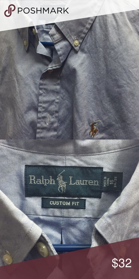 Light Blue Custom Ralph Lauren Polo dress shirt Great Condition to this (worn once) dress shirt Polo by Ralph Lauren Shirts Dress Shirts