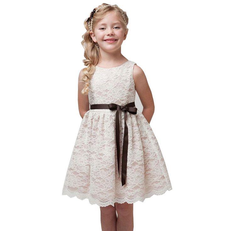 Filles d\u0027été Costumes Dentelle Robes pour la Partie De Mariage Broderie  robes Enfants conceptions
