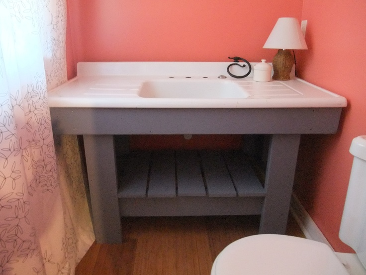 Great idea bathroom sink from an old kitchen sink love - Great kitchen sinks ...