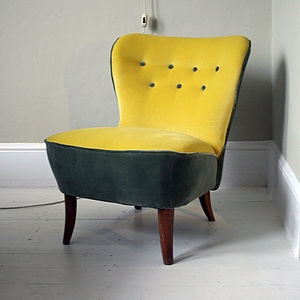1940s Button Back Frances Chair - living room