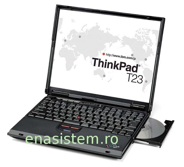Laptop second hand  Laptop second handIbm ThinkPad T23, clasa business, cu tastatura iluminata, Intel Pentium 3 -1133 mhz, 512 mb ram, 30 Gb Harddisk, dvdrom, sunet, retea, robust si de incredere  Ibm ThinkPad T23 sunt laptopuri sh ideale pentru navigare Internet si aplicatii Office
