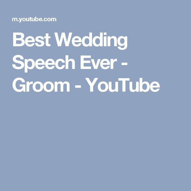 Groom Poetic Preacher Delivers The Best Grooms Wedding Speech Ever Be Sure To Share With Someone You Want Smile Today