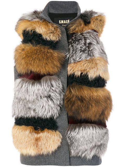 Купить S.W.O.R.D 6.6.44 куртка-жилет с мехом кролика .