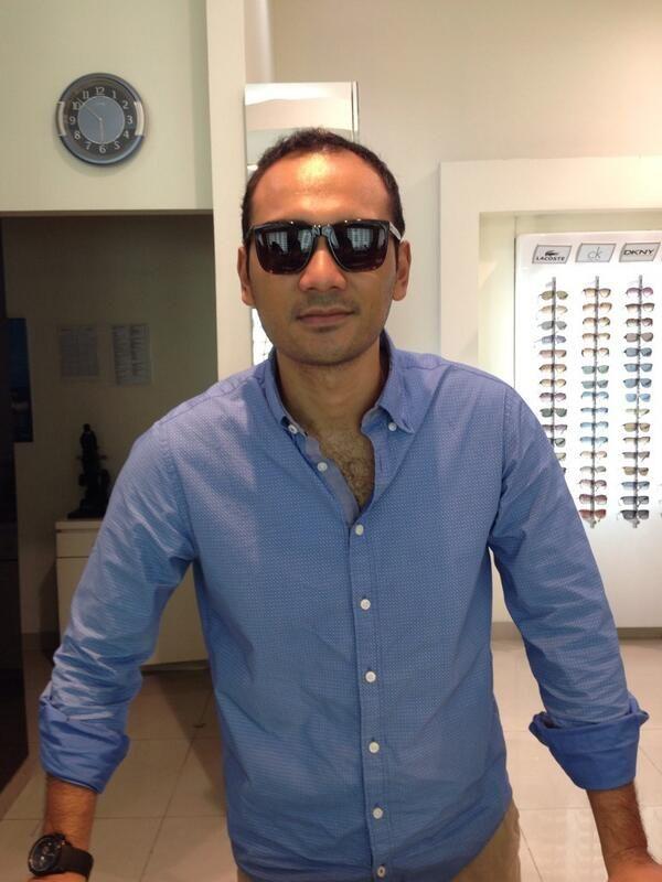 Ario Bayu - Most Stylish Man wearing Giorgio Armani sunglasses at OPTIK SEIS