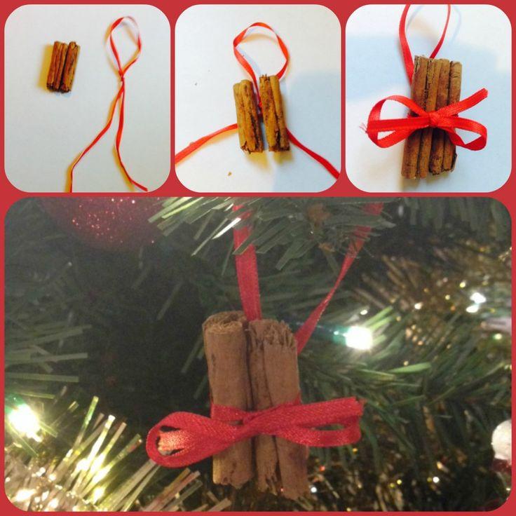 Homemade Cinnamon stick tree decorations....