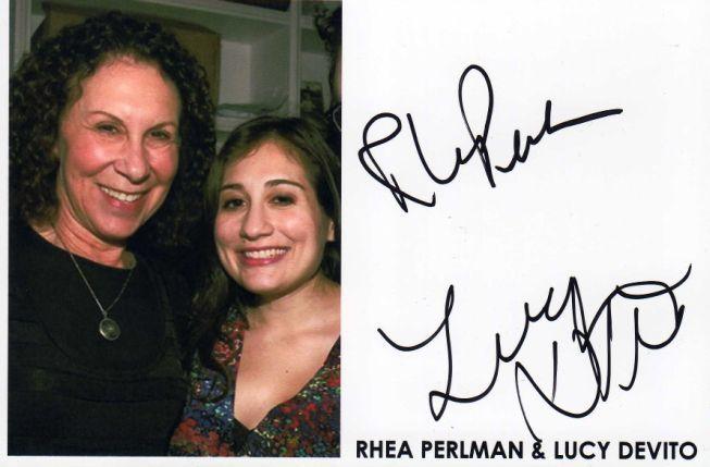 Rhea Perlman & Lucy DeVito