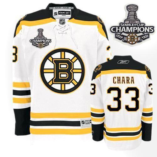 Boston Bruins Zdeno Chara 33 White Replica Jersey Sale