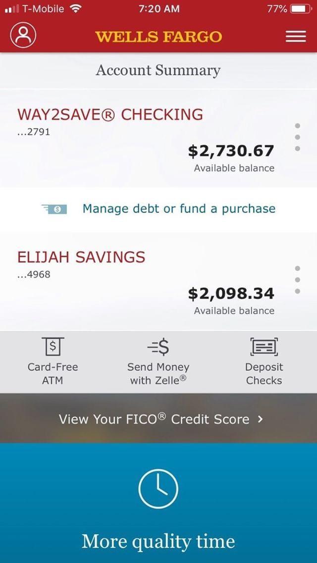 Double it, checking & savings #WellsFargo #money